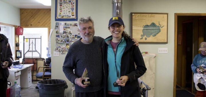 Cara Burkhardt and Paul townsend, winners of the 2016 Spring Fling Regatta